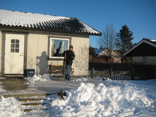 Husse skottar snö